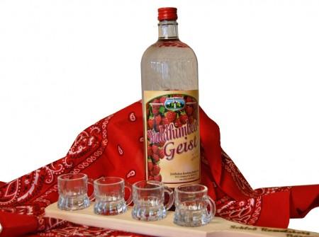 Himbeergeist 40% in Glasflasche 1,0l