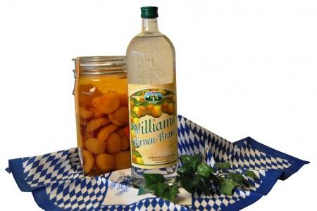 Williamsbirnen-Brand 40% in der Glasflasche 1,0l