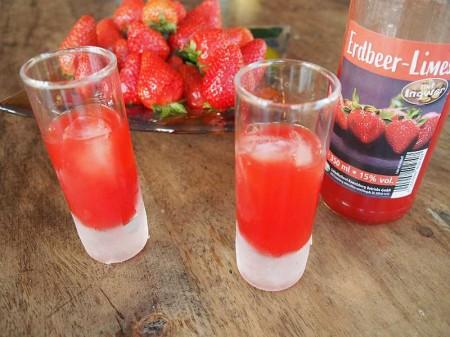 Erdbeer Limes mit Ingwer 15%